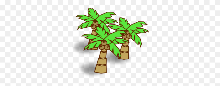 Coconut Trees Clip Art - Palm Tree With Coconuts Clipart