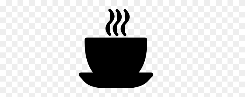 Coffee Black Clipart - Tea Cup Clipart Black And White