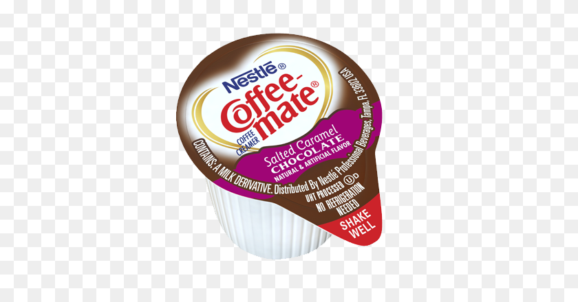 Coffee Creamer Singles Salted Caramel Coffee Mate - Caramel PNG
