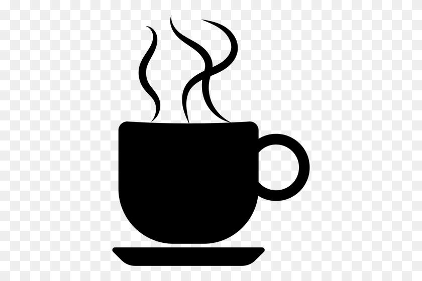 394x500 Coffee Cup Clip Art Black White - Man Drinking Coffee Clipart
