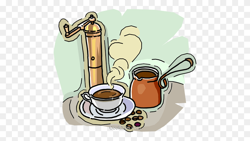 Coffee Grinder Coffee Pot, Cup Of Coffee Royalty Free Vector Clip - Coffee Maker Clipart