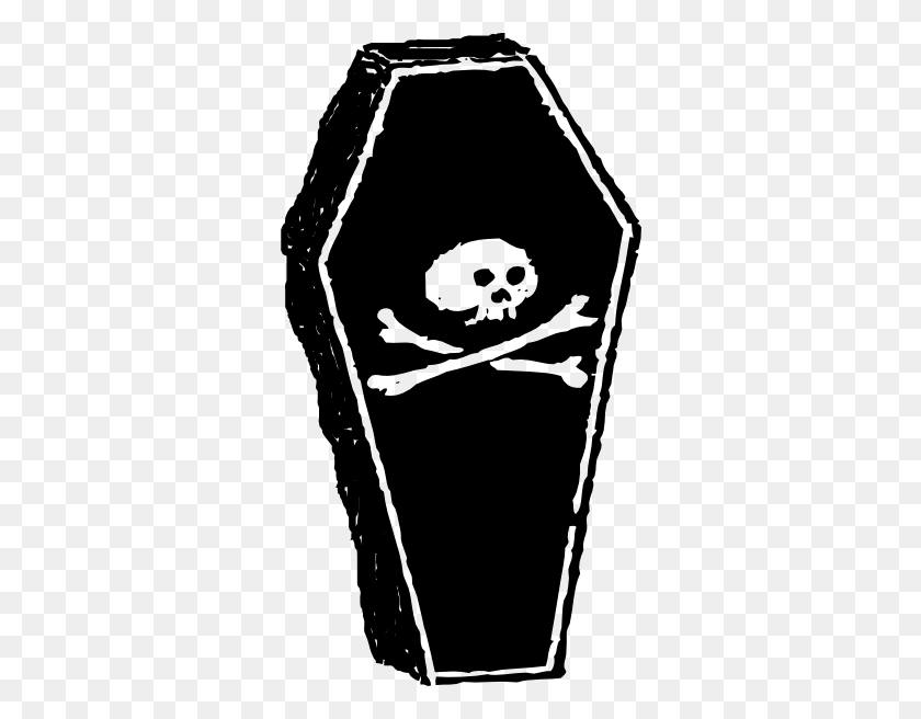 Coffin Clipart Clip Art - Halloween Clipart Black And White