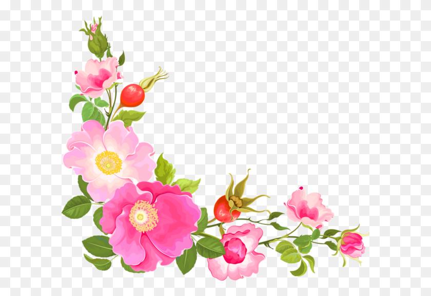 Coins,corners,bordures Png Flowers Corner, Flowers, Flower Frame - Corner Flower Clipart