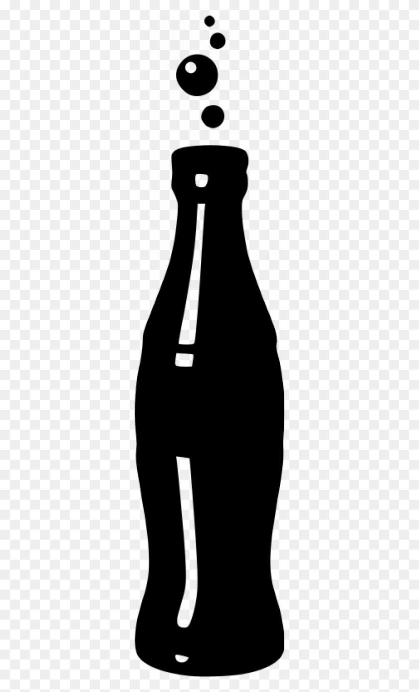 Cola Bottle Silhouettes Clip Art, Bottle And Soda - Soda Bottle Clipart