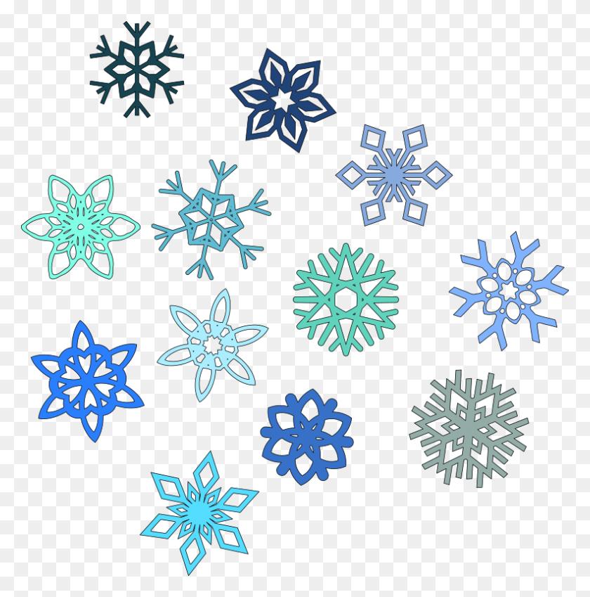 Cold Snowflake Cliparts - Snowflake Border PNG