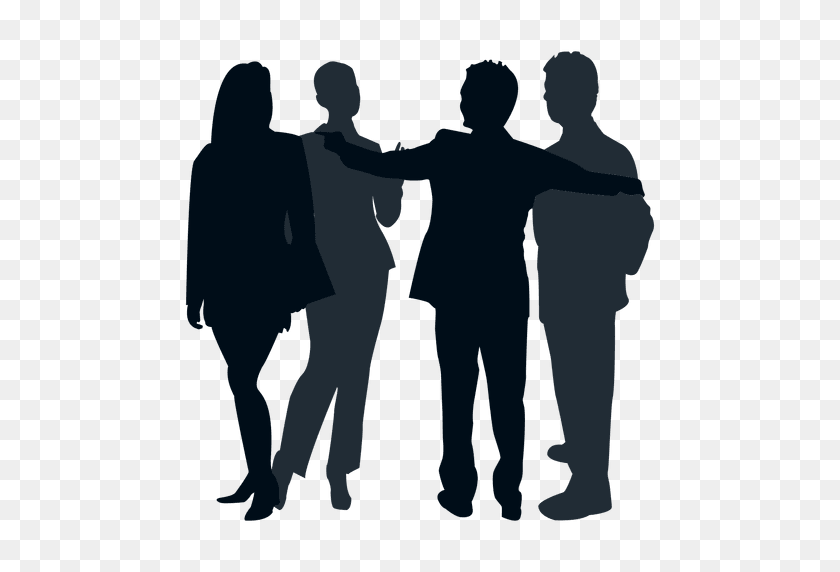 Colleague Group Silhouette - Silhouette People PNG