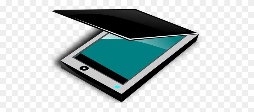 Color Flatbed Scanner Vector Clip Art - Scanner Clipart