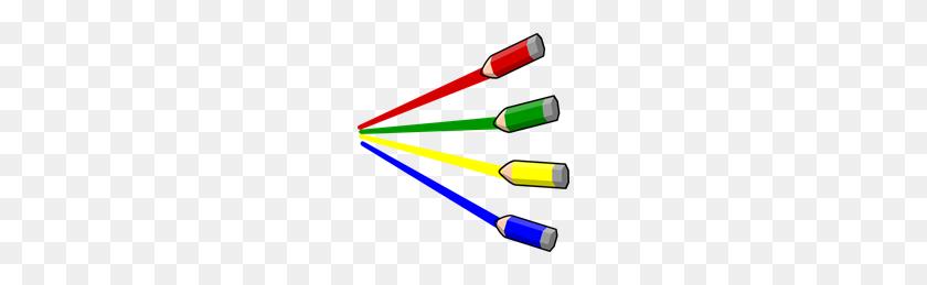 Color Pencil Stripes Small Pencils Png, Clip Art For Web - Colored Pencils Clipart