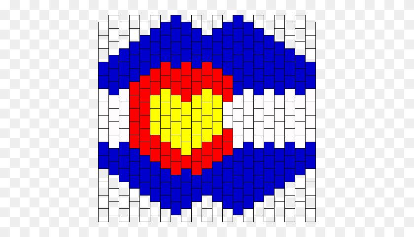 Colorado Flag Mask Bead Pattern Peyote Bead Patterns Misc Bead - Colorado Flag PNG