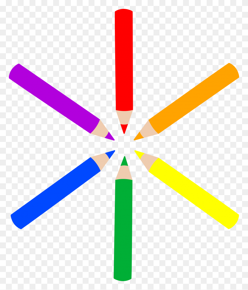 Colored Pencils Clip Art - Sharpened Pencils Clipart