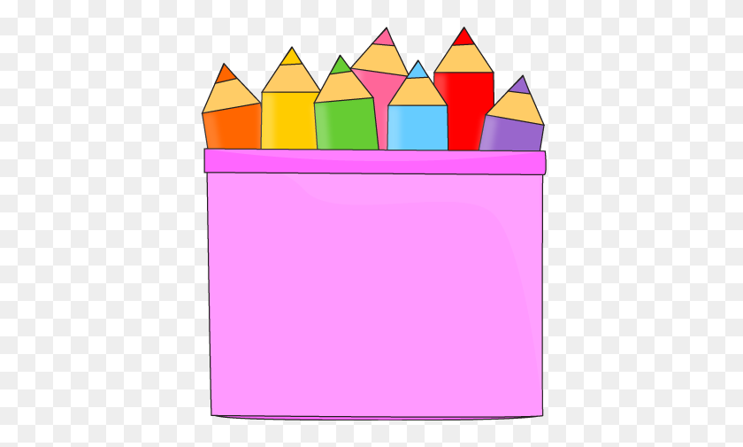Colored Pencils In A Pencil Holder Clip Art - Colored Pencils Clipart