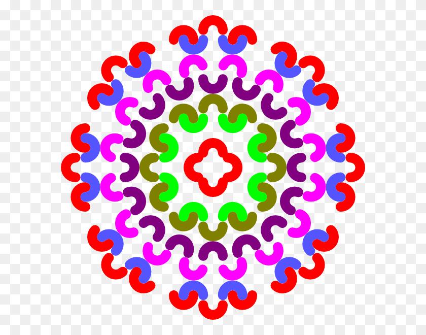 Colorful Flower Decoration Clip Art - Colorful Flower Clipart
