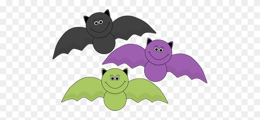 Colorful Halloween Bats Clip Art Image - Vampire Bat Clipart