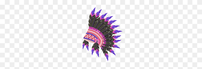 Colorful Indian Chief Headdress - Indian Headdress PNG