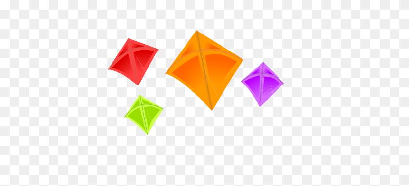 Colorful Kites Clip Art - Origami Clipart
