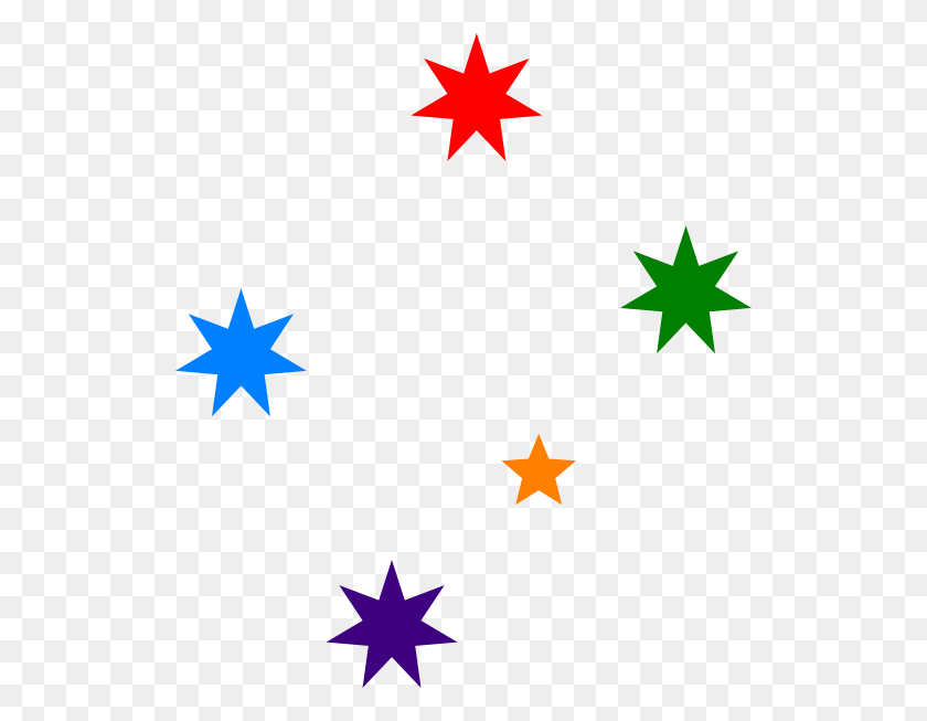Colorful Stars Clipart Png - Star PNG Image