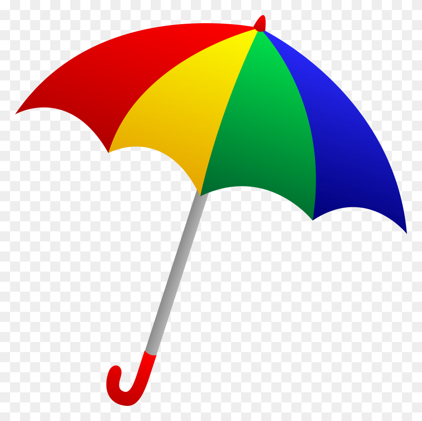 Colorful Umbrella Clipart Collection - 100th Day Clipart