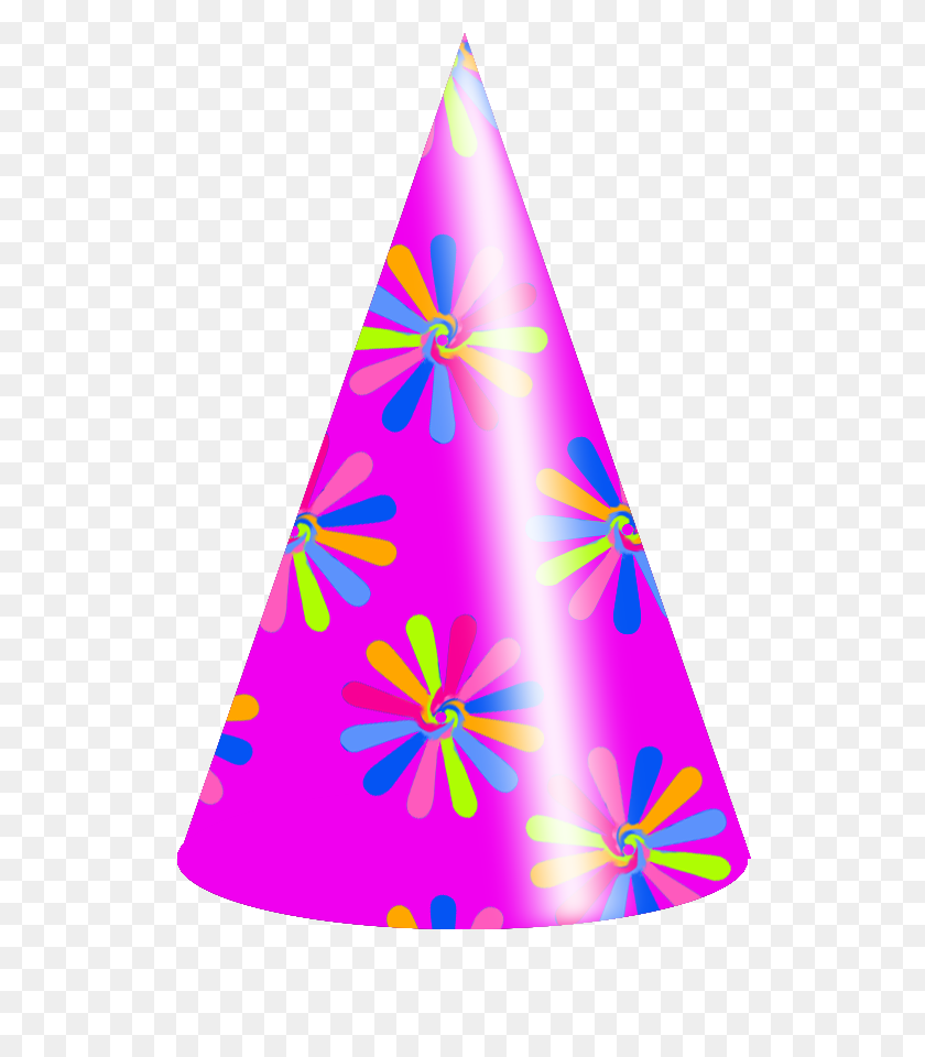 Colors Birthday Hat Vector Clipart Picture - Birthday Hat PNG