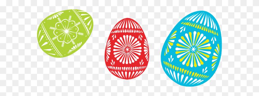 600x252 Colour Easter Eggs Clip Art - Easter Breakfast Clipart