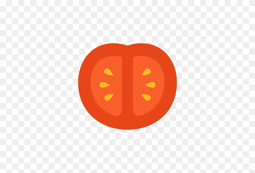 Colour, Food, Red, Salad, Slice, Tomato, Vegetable Icon - Tomato Slice PNG
