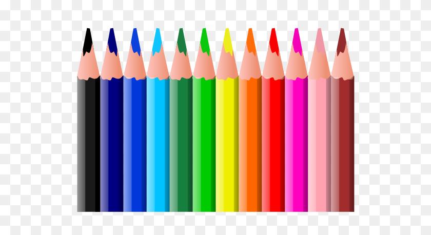 600x398 Colouring Pencils Clip Arts Download - Art Supplies PNG