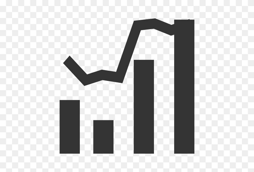Column Line Graph, Line Graph Icon With Png And Vector Format - Line Graph PNG