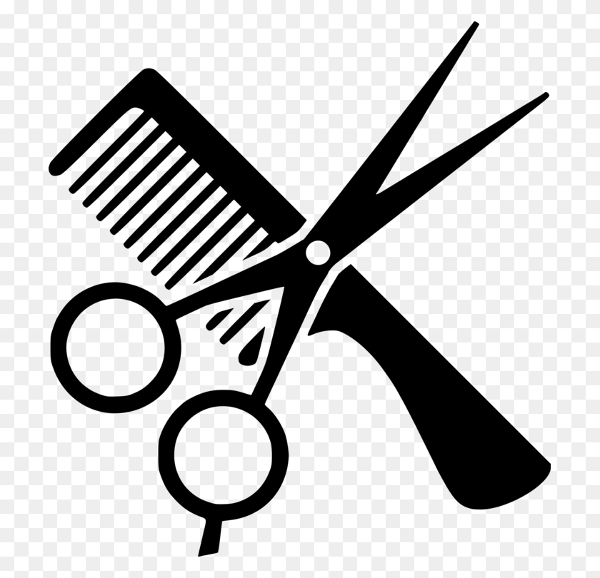 Comb Hairdresser Beauty Parlour Barber Computer Icons Free - Scissors And Comb Clipart