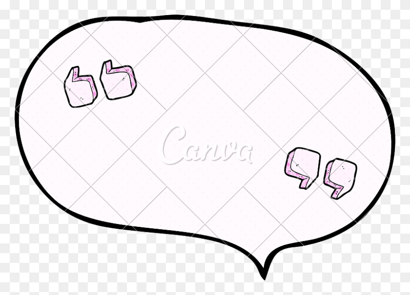 Comic Book Speech Bubble Cartoon Quotation Marks - Quotation Marks Clipart