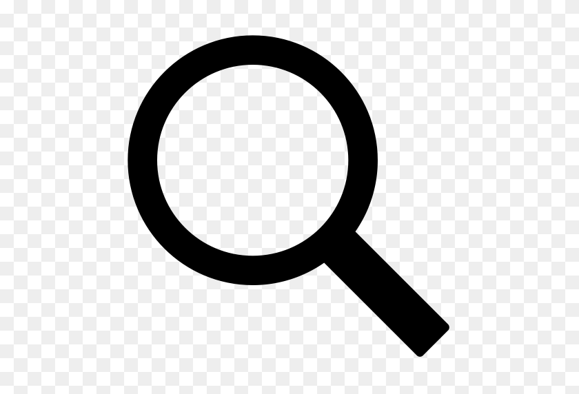 Common, Glass, Lookup, Magnifier, Magnifying, Magnifying Glass - White Magnifying Glass Icon PNG