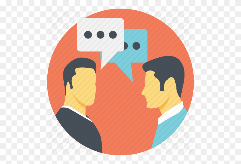 Communication, Conversation, Dialogue Between Two People - Two People Talking Clipart