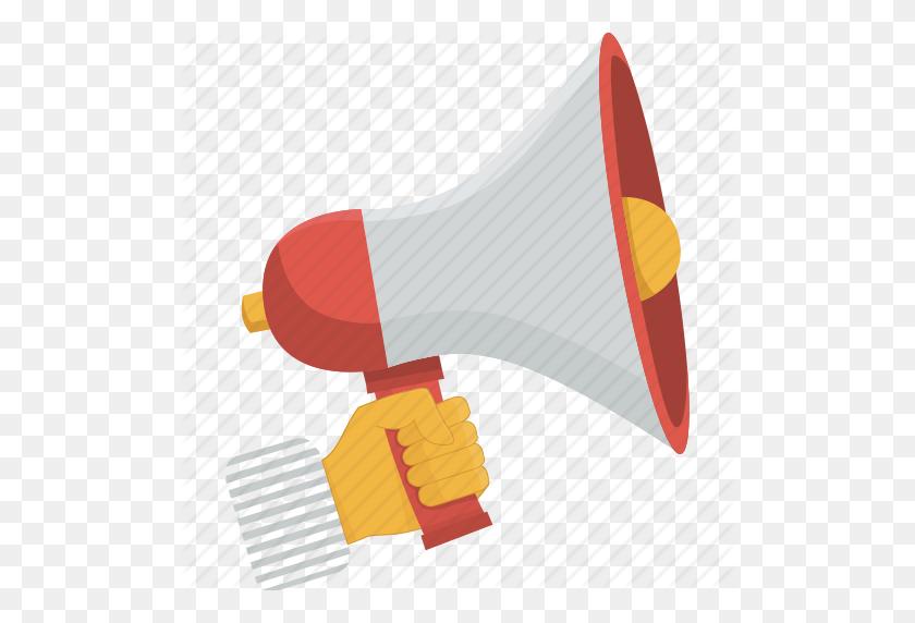 512x512 Communication, Hand, Megaphone, Speak, Speaker, Speech, Talk Icon - Megaphone PNG