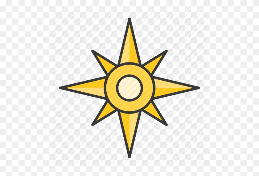 Compass, Nautical, North Star, Star Icon - North Star Clip Art