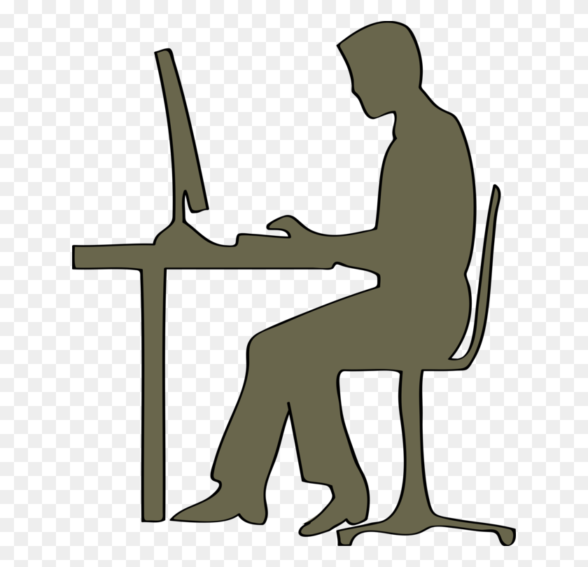 Computer Desk Computer Graphics Computer Icons - Front Desk Clipart