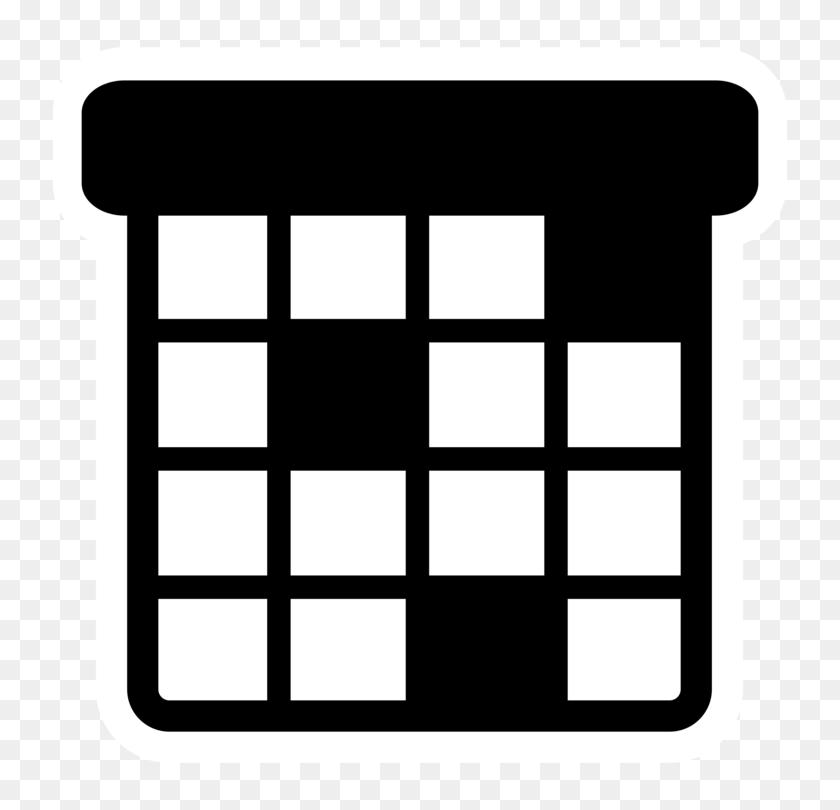 Computer Icons Date Picker Calendar Date Agenda - Calendar Clipart Black And White