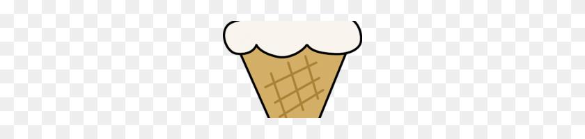 Cone Clipart Vanilla Ice Cream Cone Clip Art Vanilla Ice Cream - Waffle Cone Clip Art