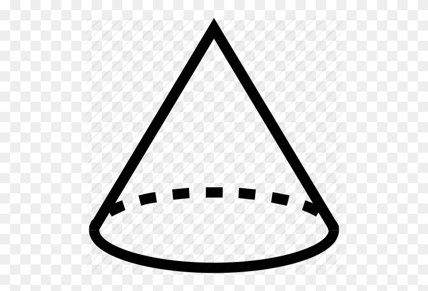 Cone, Draw, Drawing, Geometric Shape, Geometry, Shape Icon - Geometric Shape PNG