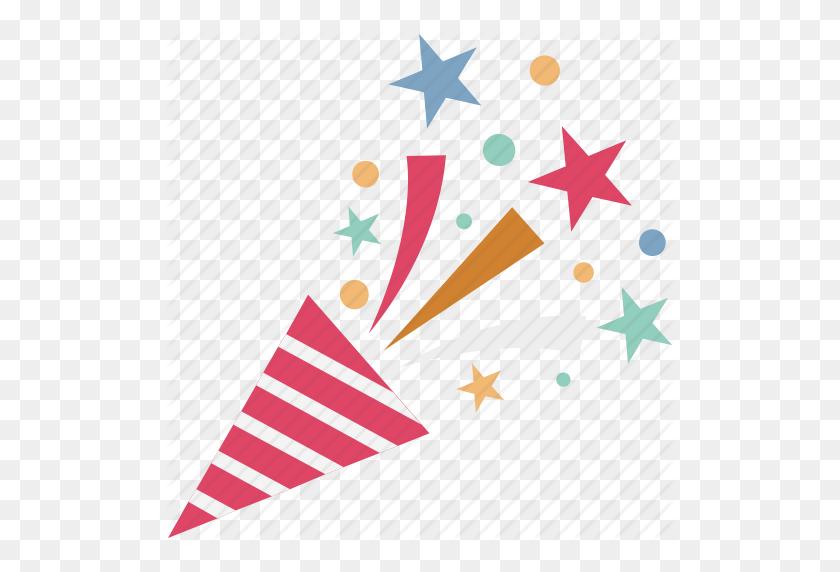 512x512 Confetti, Confetti Poppers, Party Popper, Streamers, Wedding - PNG Confetti