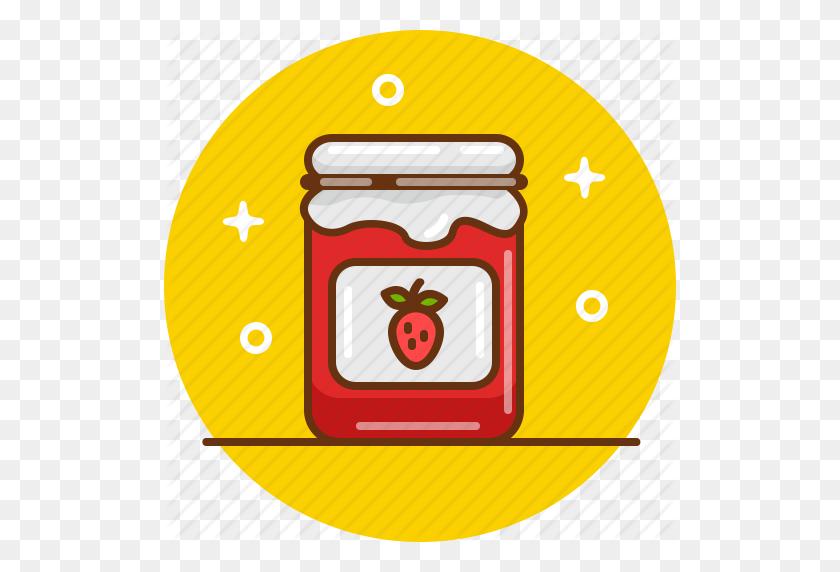 Confiture, Jam, Jar, Marmelade, Strawberry, Strawberry Jam Icon - Strawberry Jam Clipart