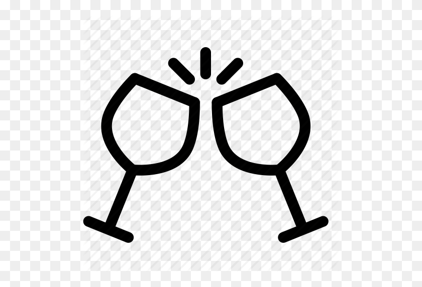 512x512 Congratulation, Drink, Glass, Liquor, Outing Icon - Congratulations Free Clip Art