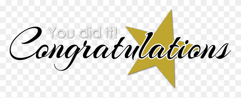 Congratulation Png Transparent Images - You Did It Clip Art