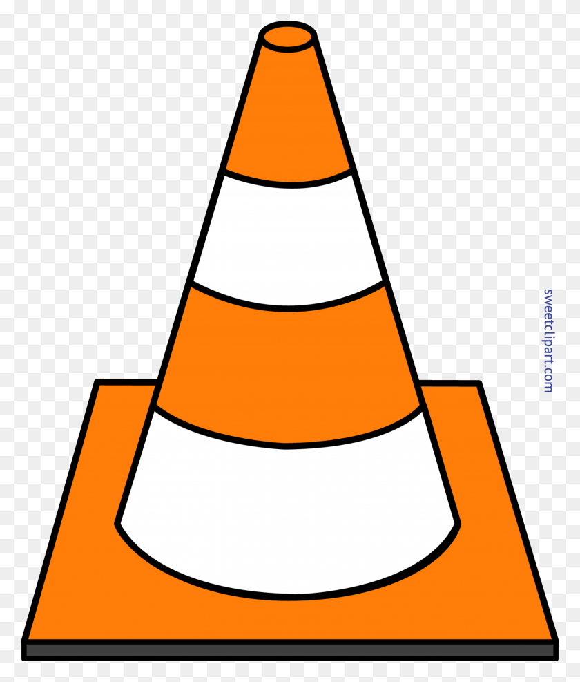 Construction Cone Striped Clip Art - Quill Pen Clipart