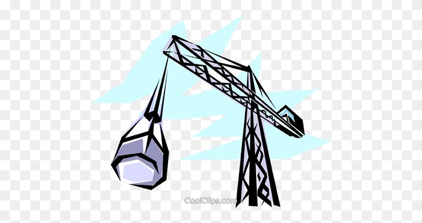 Construction Crane Royalty Free Vector Clip Art Illustration - Construction Crane Clipart