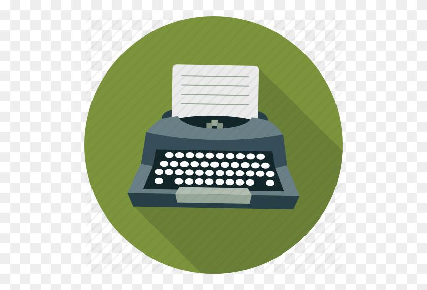 Content Writer, Creative Writer, Typewriter, Writer, Writing Icon - Typewriter PNG