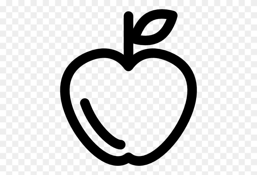 Contorno De Manzana Descargar Iconos Gratis - Manzana PNG