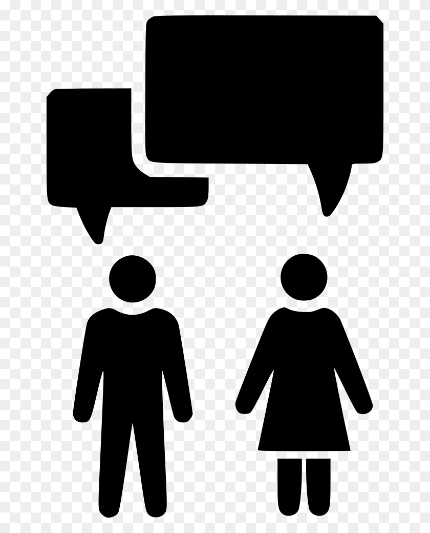660x980 Conversation Chat Argument Couple Marriage Png Icon Free - Marriage PNG
