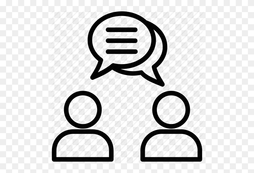 Conversation, Debate, Discussion, Talking, Two People Talking Icon - Two People Talking Clipart