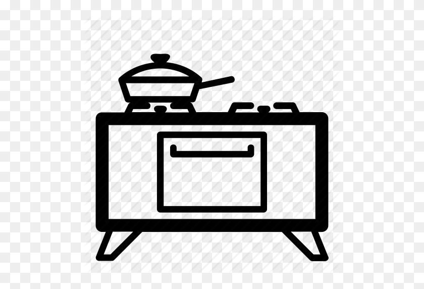 Cooking, Gas Stove, Kitchen, Oven, Pan, Range, Stove Icon - Stove PNG