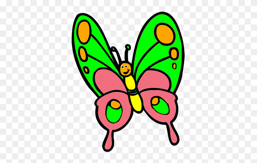 Cool Clipart Butterfly - Cute Bug Clipart