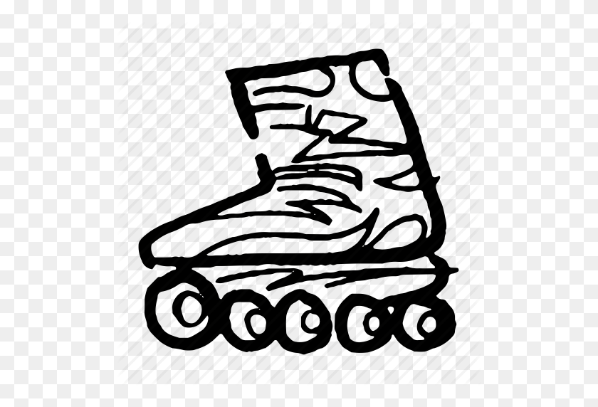 Cool, Fun, Roller, Roller Skate, Rollerblade, Skate, Skates Icon - Roller Skates PNG