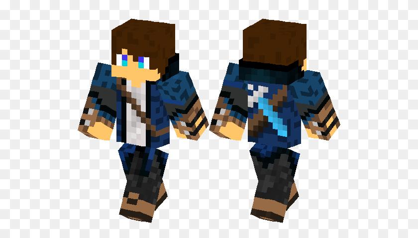 Cool Hunter With A Diamond Sword Minecraft Skin Minecraft Hub - Minecraft Diamond Sword PNG